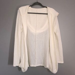 White Knitted Long Sleeve Cover Up/Cardigan